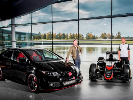 Ricky Wilson and Jenson Button at the MTC